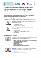 Ministerial responsibilities following the EU referendum