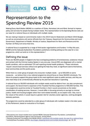 MEAM Spending Review representation cover